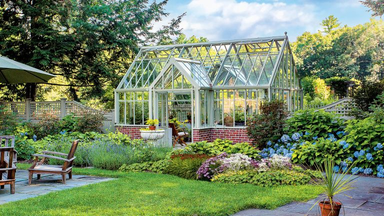Hartley Botanic bespoke Victorian lodge greenhouse with double porch