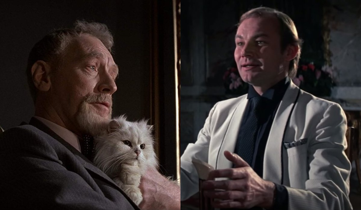 Max Von Sydow and Klaus Maria Brandauer side by side, in Never Say Never Again