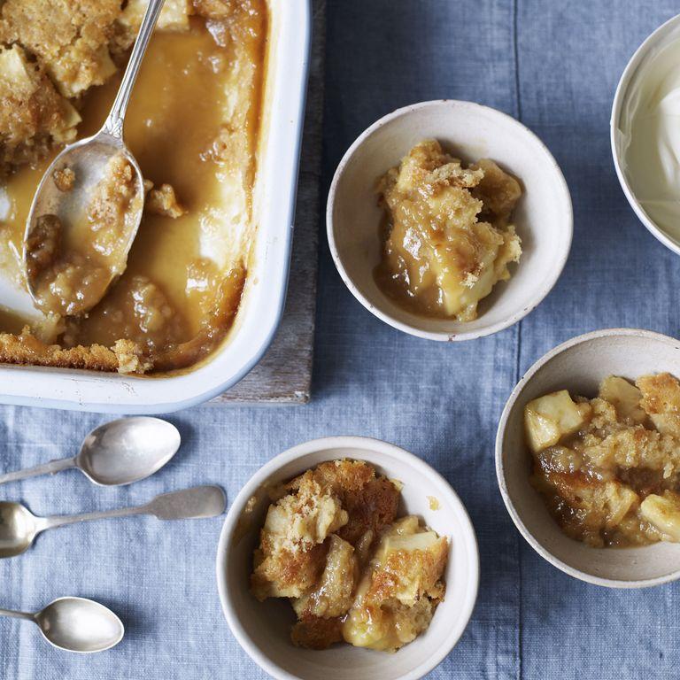 Butterscotch apple pie photo