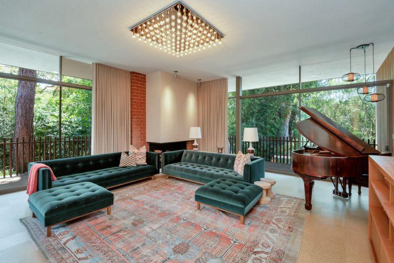 mid-century modern living room in Beverly Hills