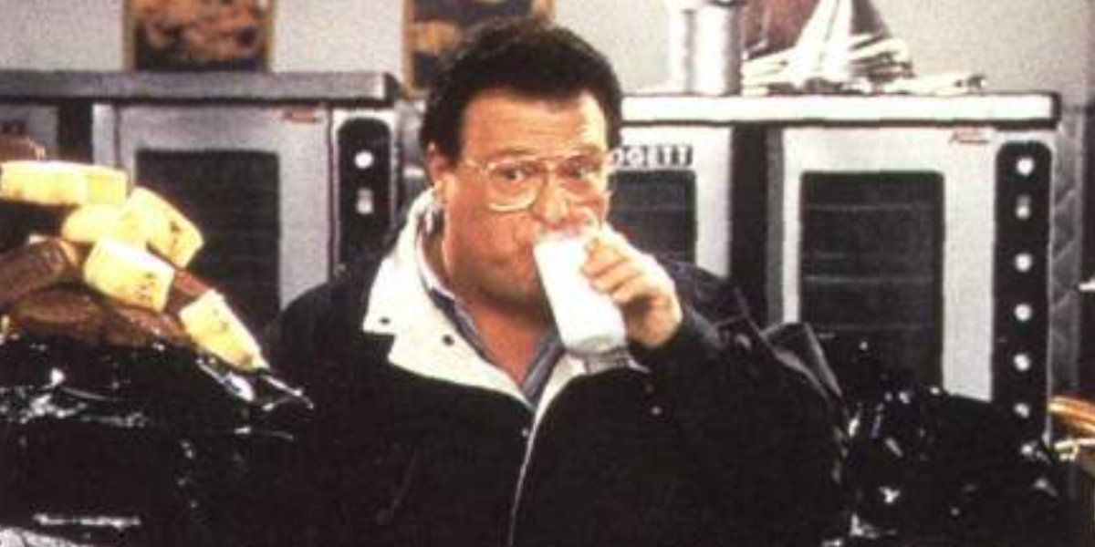 Newman cleans the muffin tops on Seinfeld