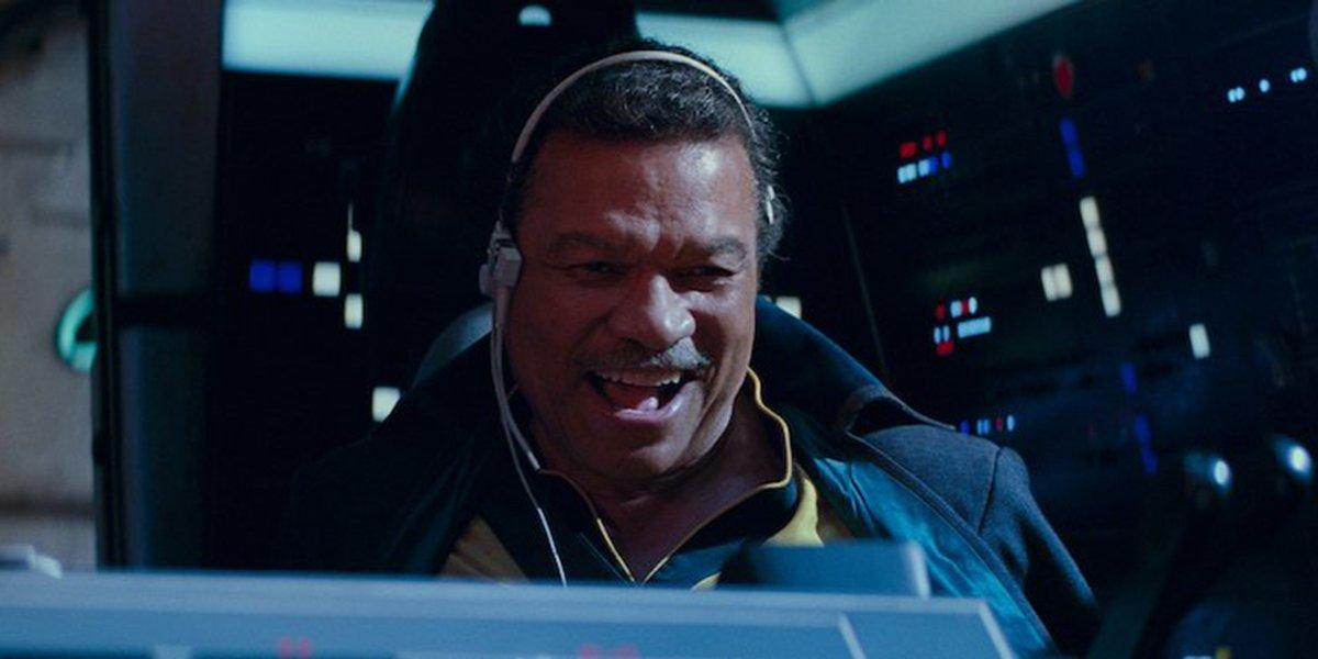 Lando having a blast flying the Falcon