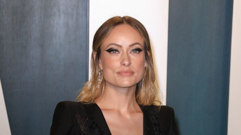 Olivia Wilde praises Harry Styles, Olivia Wilde attends the 2020 Vanity Fair Oscar Party at Wallis Annenberg Center for the Performing Arts on February 09, 2020 in Beverly Hills, California