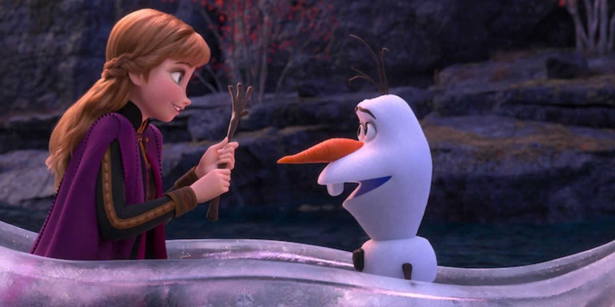 Olaf and Elsa in Frozen II
