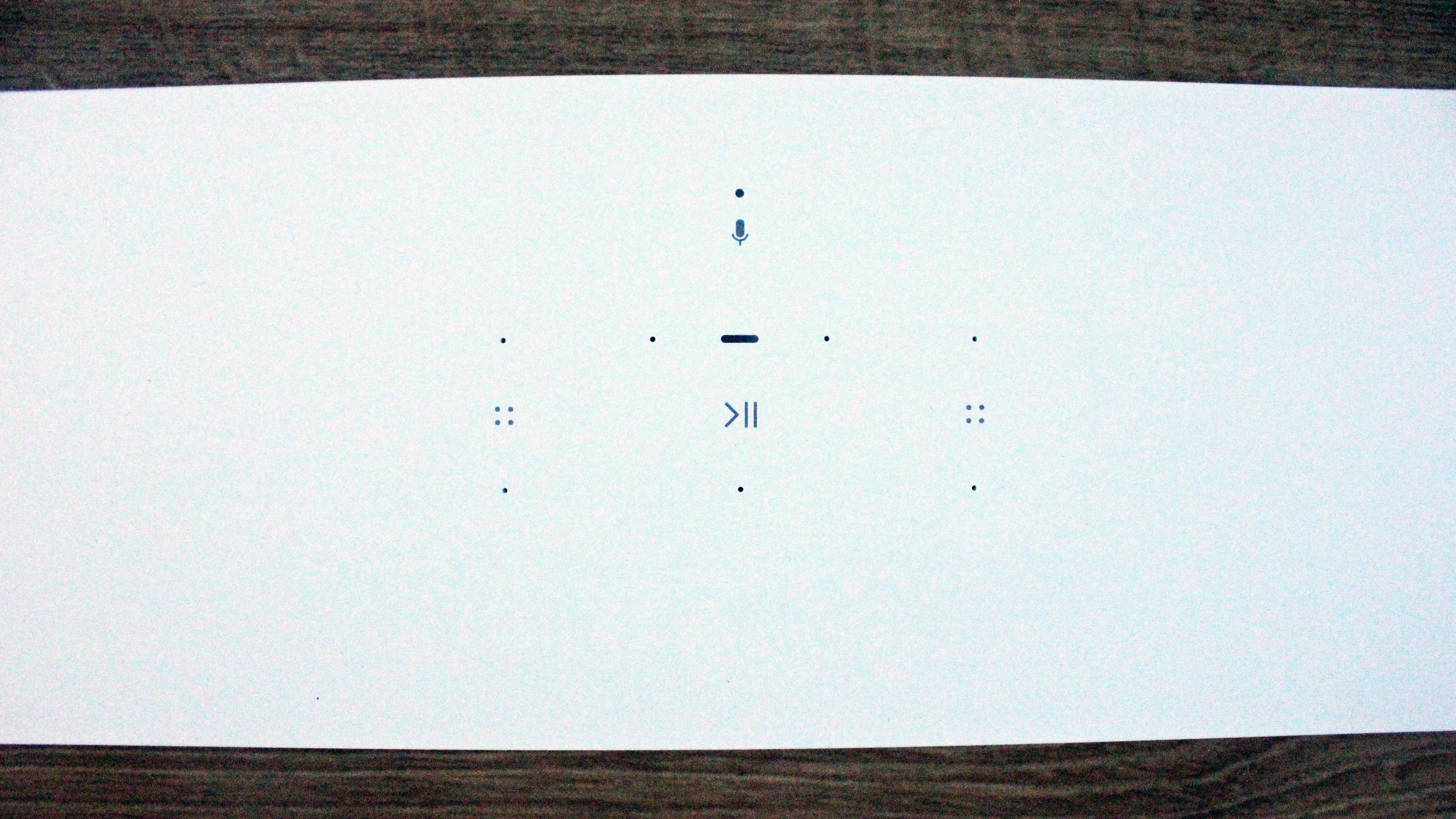a closeup of the sonos beam gen 2 touch controls