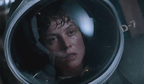 Sigourney Weaver as ellen ripley in Alien