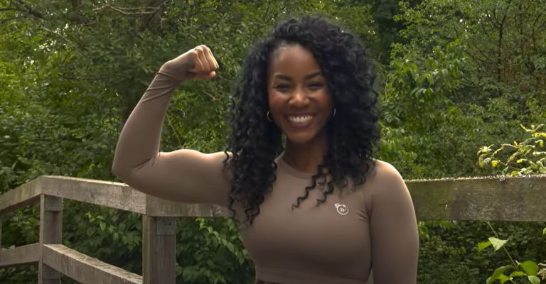 Tameika showing off her weight loss transformation