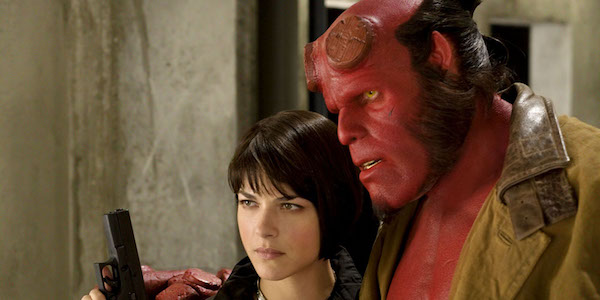 Selma Blair and Ron Perlman in Hellboy 2