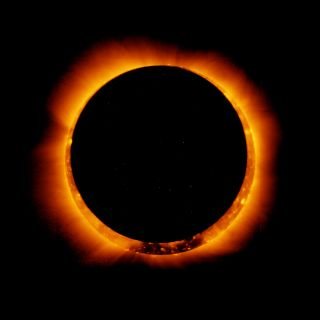 On Jan. 4, 2011, the joint Japanese-American Hinode satellite captured breathtaking images of an annular solar eclipse.