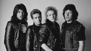 Michael Schenker Group: L-R Chris Glen, Graham Bonnet, Michael Schenker, Ted McKenna