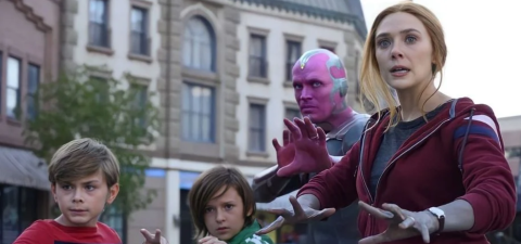 The Maximoff family prepares to fight in 'WandaVision.'