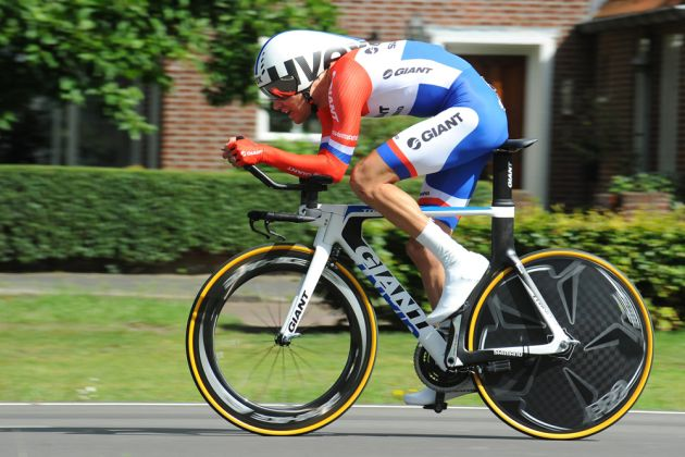 Tom Dumoulin (Giant) wins stage three time trial, 2014 Eneco Tour