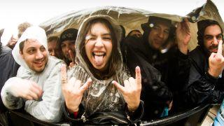 Rock fans at an AC/DC gig