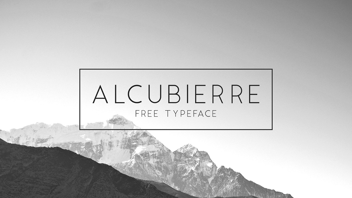 Best free fonts: Alcubierre