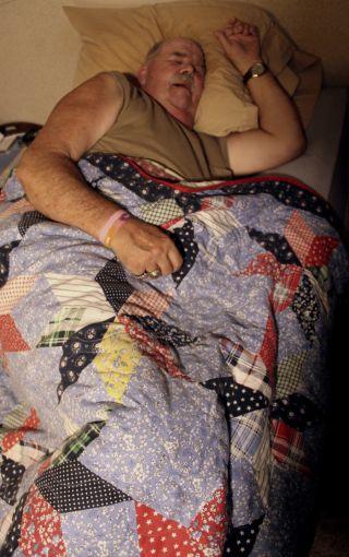 Narcoleptic patient sleeping, narcolepsy, sleep study
