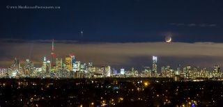 Venus and the Moon Over Toronto