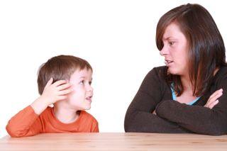 Mom Son Talking 111130