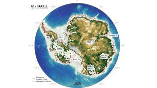 Antarctica minus ice