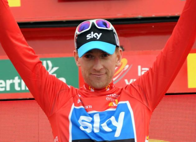 Bradley Wiggins in the lead, Vuelta a Espana 2011, stage 11