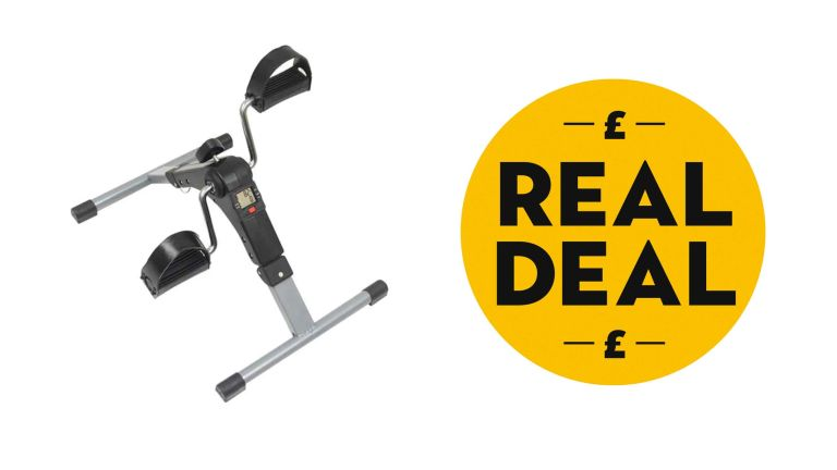 Mini exercise bike: Aidapt Pedal Exerciser with Real Deal logo