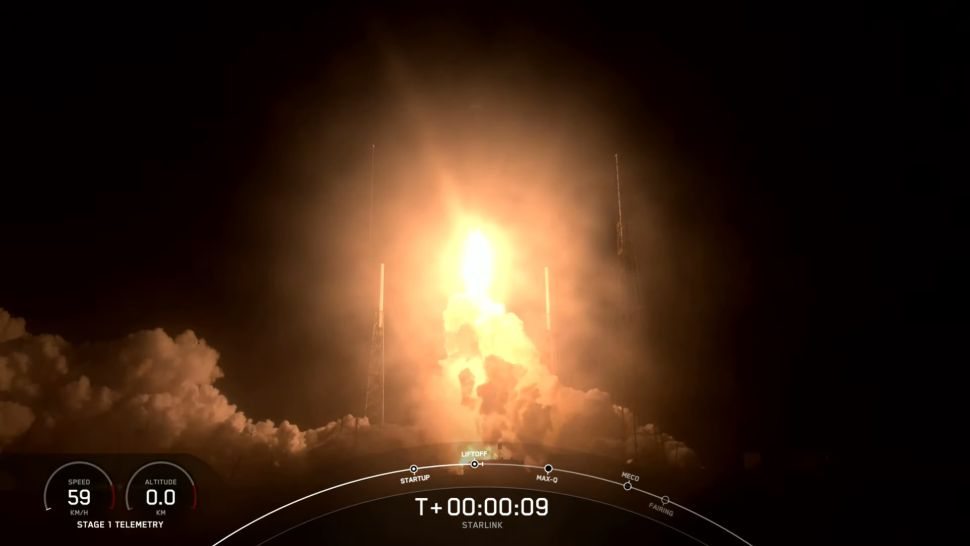 SpaceX launches 60 new Starlink internet satellites, nails latest rocket landing at sea