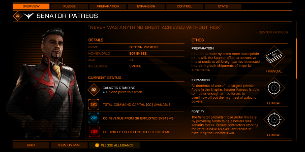 A faction in Elite Dangerous