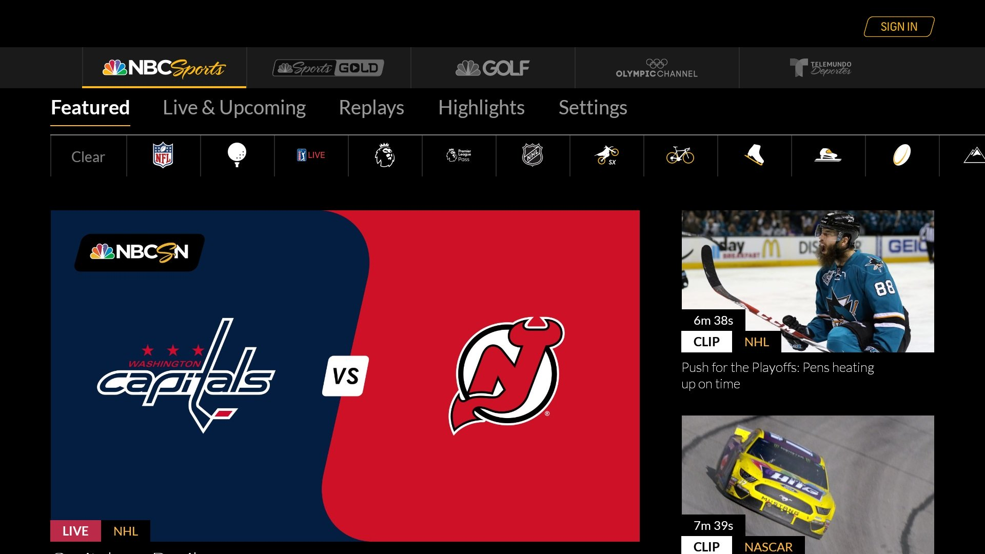 Nbc Sports App Comes To Android Tv Whattowatch