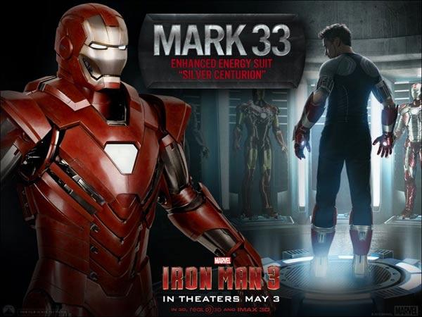 Iron Man 3 Silver Centurion