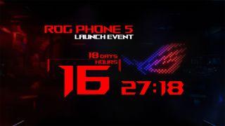 Asus ROG Phone 5 countdown