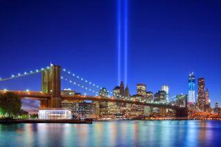 New York City's Tribute in light September 11th Memorial.