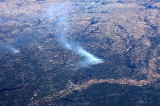 Texas wildfires can be seen from space in this photo by space station astronaut Ron Garan.