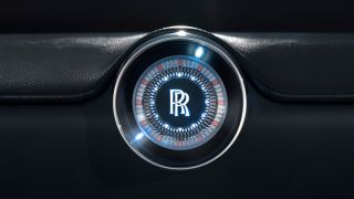 Close-up of the Rolls-Royce emblem