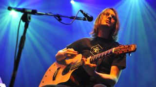 Steven Wilson of Porcupine Tree performs on stage at Royal Albert Hall on October 14, 2010