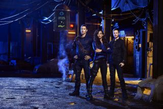 """Killjoys,"" a space- based show on the Syfy network, has been renewed for a second season in 2016."