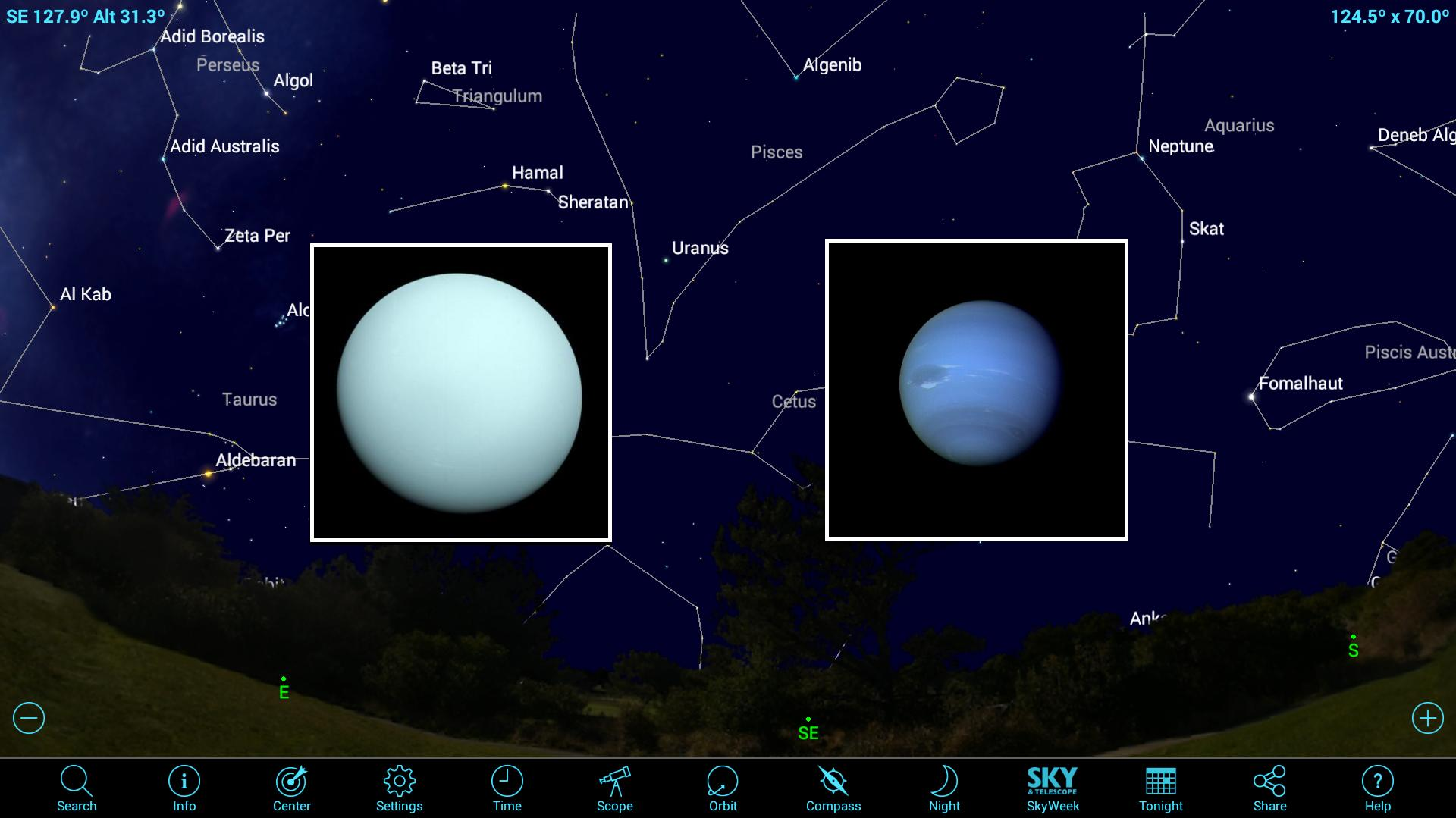 How to Use Mobile Apps to See the Solar System's Ice-Giant Planets