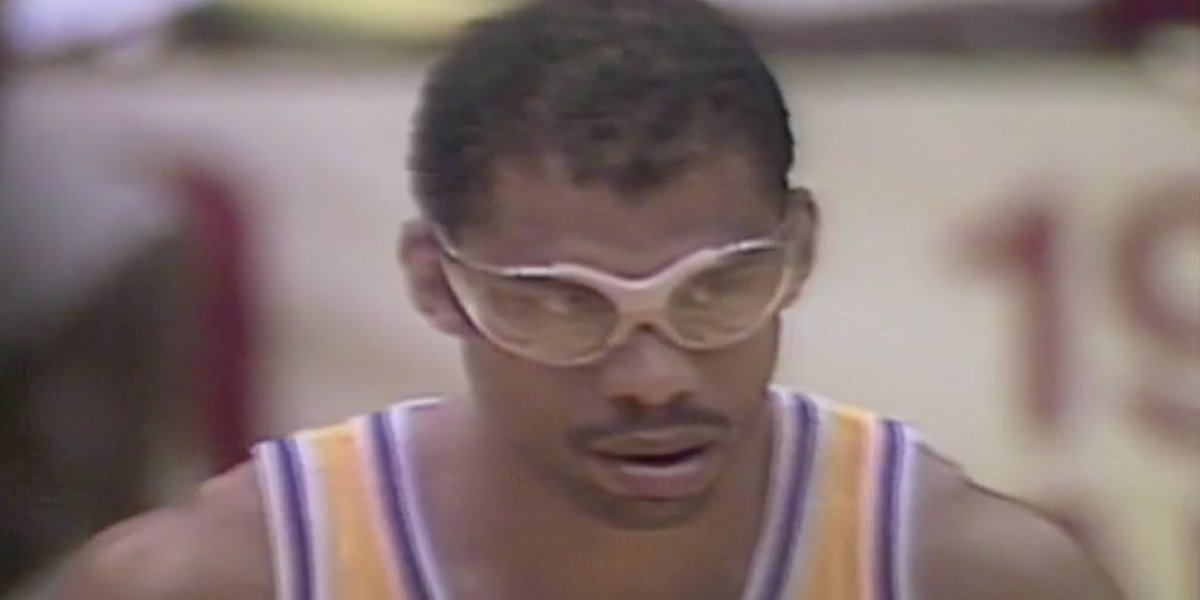 Kareem Abdul-Jabbar during the 1984 NBA Playoffs