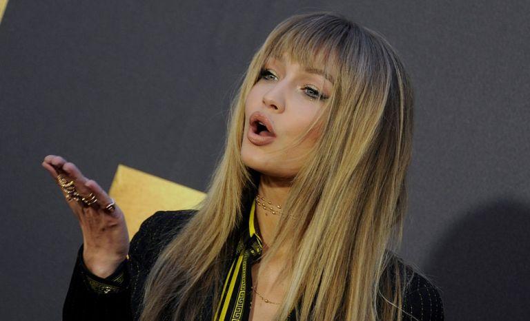 Model Gigi Hadid arrives at the 2016 MTV Movie Awards at Warner Bros. Studios on April 9, 2016 in Burbank, California