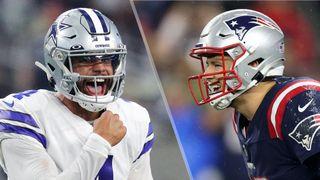 Dak Prescott and Mac Jones will face off in the Cowboys vs Patriots live stream