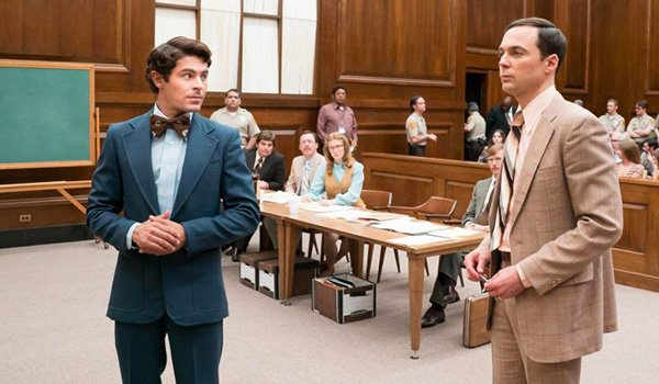 Ted Bundy in court in Extremely Wicked