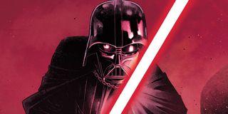 Darth Vader with his lightsaber Marvel Comics