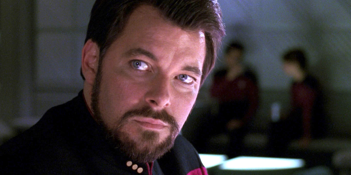 Jonathan Frakes as Riker in Star Wars: The Next Generation