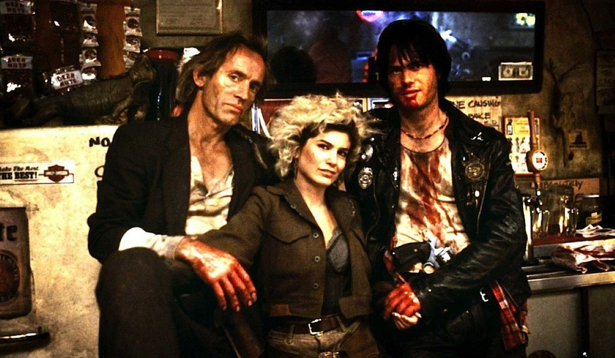 Near Dark dirty southern vampires looking dangerous in a bar