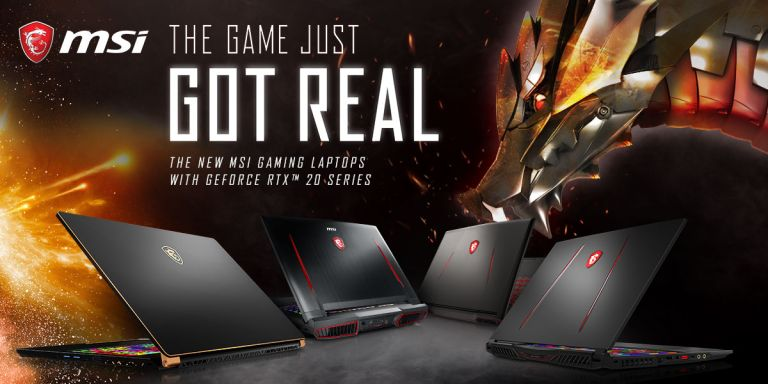 MSI gaming laptops CES 2019