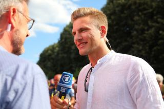 Marcel Kittel was working for German television in July 2019 at the Tour de France before announcing his retirement from professional cycling the following month