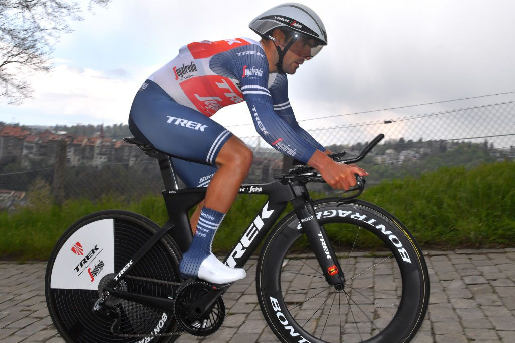 Jacopo Mosca in hospital after crashing in time trial at Italian Road Championships