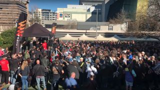 Watch more than 450 guitarists gather in Sydney to play AC/DC classic Highway To Hell in effort to break Guinness world record
