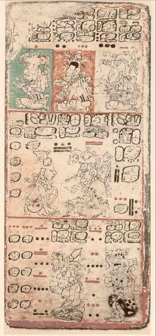 image from Mayan Dresden Codex