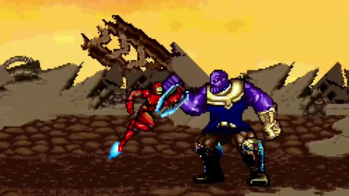 This Avengers: Infinity War 16-bit Thanos battle is pure retro joy