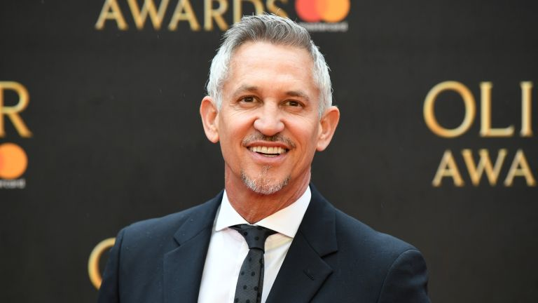 Gary Lineker attends The Olivier Awards with Mastercard at Royal Albert Hall on April 8, 2018 in London, England