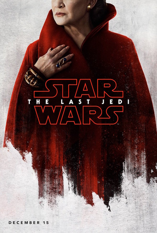 Leia in the Last Jedi Poster